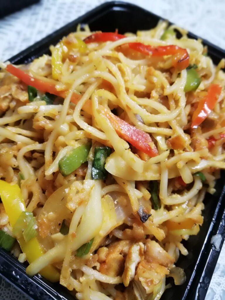 Chicken burnt garlic noodles