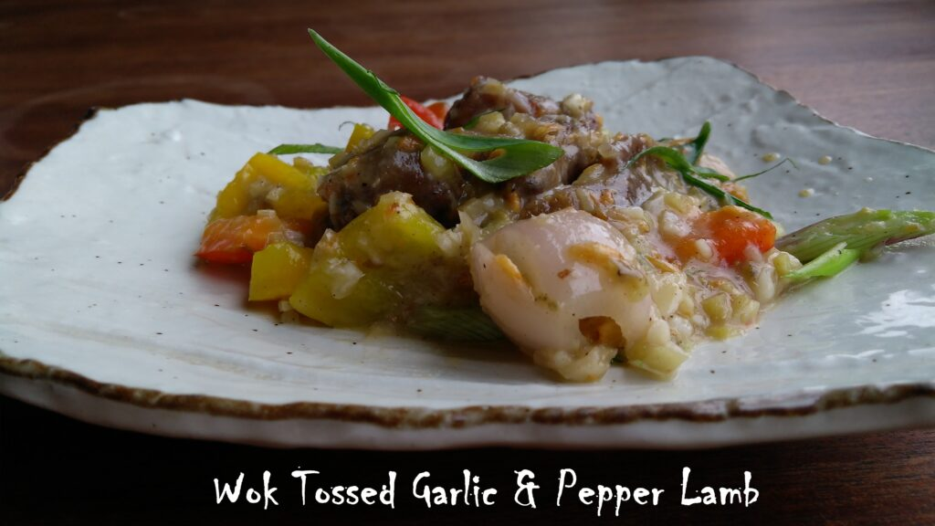 Wok Tossed Garlic & Pepper Lamb - Bombay Adda